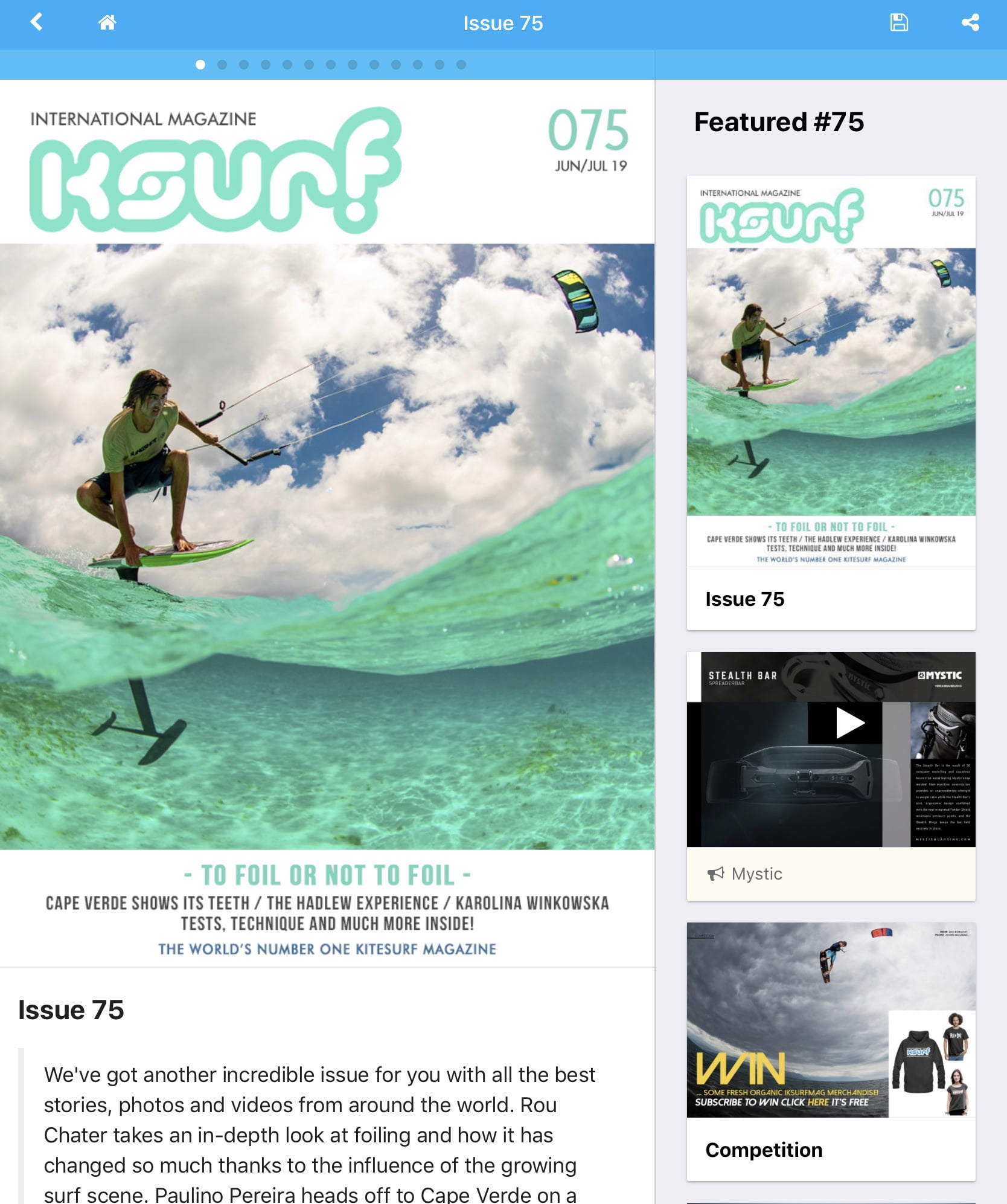 International Kitesurf magazine 075