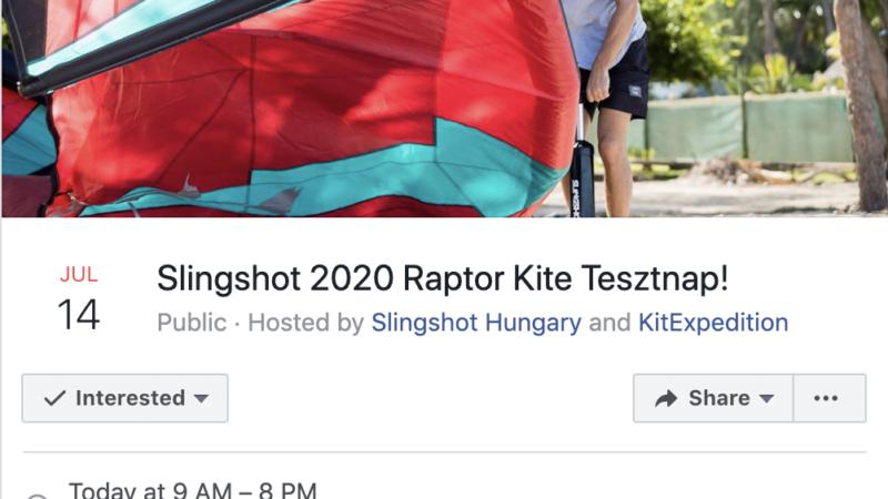 Slingshot Raptor tesztnap Siófokon