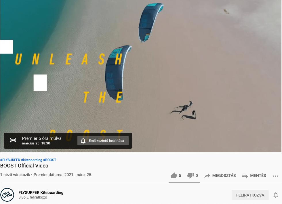 Új Flysurfer Boost